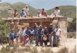 Mark Smith (Lower Right) Building a Staw Bale Retreat for a Buddhist Monk in 1995.